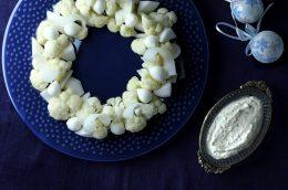 食べるスキンケアvol.22 キレイを作るクリスマスメニュー Part2「白のディップサラダ」