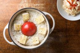 食べるスキンケアvol.39日焼け対策レシピ「トマトとカマンベールのご飯」